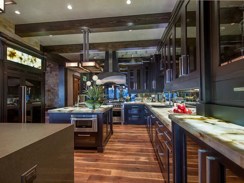 backlit-stone-led-light-panels-kitchen | Evo-Lite