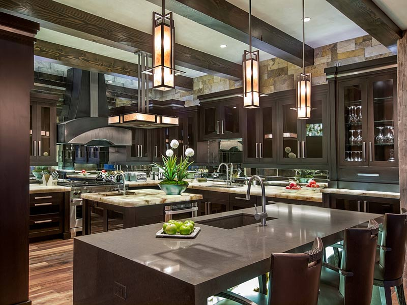 Kitchen Island Counters Backlit