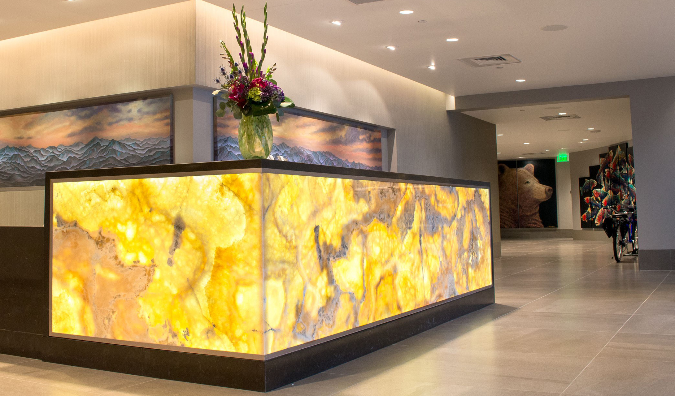 Backlit Reception Areas With Quot Wow Quot Factor Evo Lite